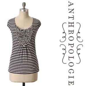 ⭐ Anthropologie One September Bouquet Stripes Tee